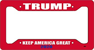 Rogue River Tactical Donald Trump License Plate Frame MAGA Republican Conservative Novelty Tag Vanity Gift Keep America Great Red