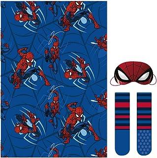 Set Regalo Manta Spiderman Calentadores, Azul (Azul 38), One Size (Tamaño del fabricante:única) para Niños