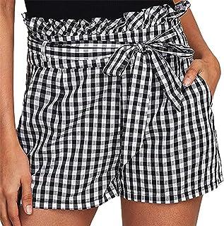 925138978 Fanteecy Women Summer Casual Elastic Waist Stripe Shorts Teen Girls Cute  Sports Beach Shorts Lounge Walking