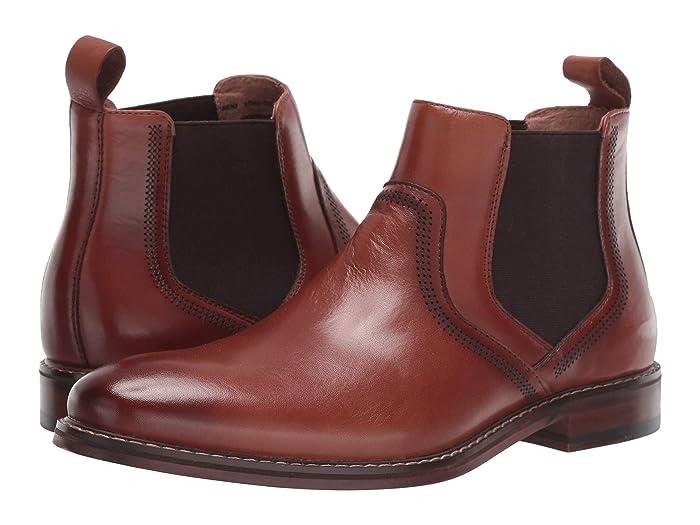 Mens Vintage Style Shoes & Boots| Retro Classic Shoes Stacy Adams Altair Plain Toe Chelsea Boot Cognac Mens Shoes $72.99 AT vintagedancer.com