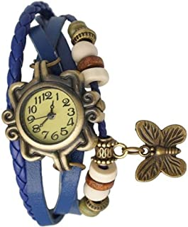 Justice Fashion New Dori Type Fancy Collection of Analouge Yellow Dial Girls and Women Watch-Blue dori