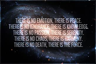 The Jedi Code The Force Galaxy Motivational Art Print Laminated Dry Erase Sign Poster 18x12