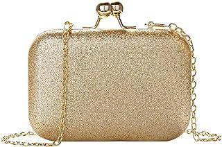 Sling Bag Clutch Bags for Women Ladies Leather Mini Small Handbag Crossbody Shoulder Messenger Bag Evening Bag KAVU Bag (Color : Gold)