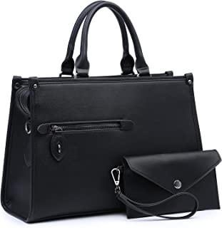 Dasein 2pcs Women Satchel Purses and Shoulder Handbags Tote Bags for Work with Wallet
