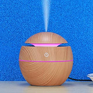 Mist Humidifier,LED USB Intelligent Induction Wood Grain Humidifier Ultrasonic Air Diffuser Ultrasonic Humidifier Portable...