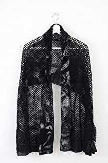 ミハイル ギニス アオヤマ MICHAIL GKINIS AOYAMA 着る ART ストール [登録意匠] 日本製 ハイテク ニット MADE IN TOKYO ギリシャ 大判 コットン Cotton OLA CORNICE ブラック シルバー black silver