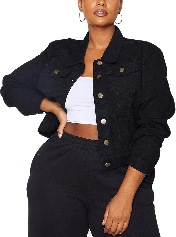 Jean Popular Popular product Jacket Women Basic Button Down Denim