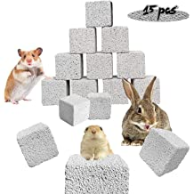 15 PCS kathson Hamster Chew Toys Teeth Grinding Lava Block Mineral Calcium for Chinchillas Rabbit