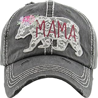 Funky Junque Womens Baseball Cap Distressed Vintage...
