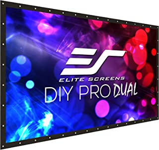 Elite Screens DIY PRO Dual, 96-INCH 16:9, Do-It-Yourself Front & Rear Indoor/Outdoor Projector Screen for Home Theater Cinema with Finished Edges & Grommets, DIY96RH1-DUAL