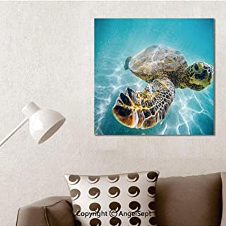 SfeatruAngel_SOSUNG Inspirational Framed Wall Art,Hawaiian Sea Turtle(16