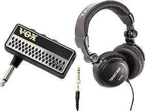 VOX Amplug 2 Lead (AP2LD) Guitar Headphone Amplifier Bundle with Headphones (2 Items)