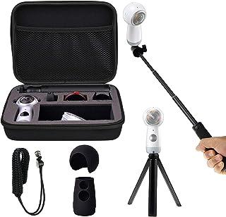 Kit de accesorios EEEKIT todo en uno: funda de protección y de transporte a prueba de golpes monopié para palo selfi minitrípode funda de silicona correa para la muñeca para Samsung Gear 3602017