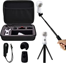 Shockproof Protective Carrying Case Selfie Stick Monopod Mini Tripod Stand Soft Silicone Skin Wrist Strap for Samsung Gear 360 2017 EEEKit All in One Accessory Kit (All in 1 Kit for 2017 Edition)
