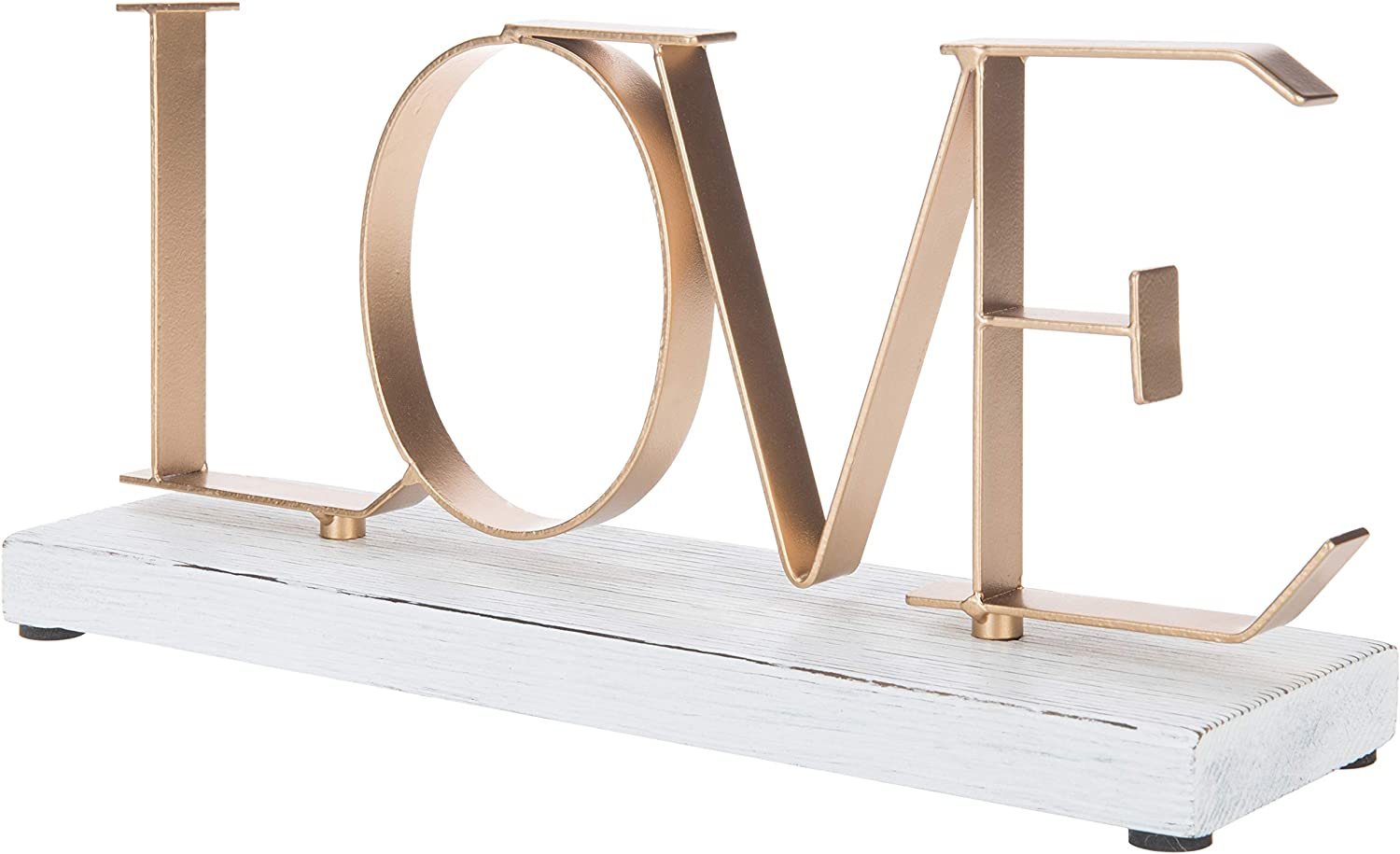 Max 82% OFF MyGift Love Metal Letters Genuine Free Shipping Decorative with Sign Wood Whitewashed