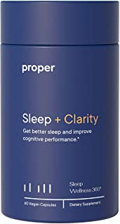 Proper Sleep + Clarity - Natural Healthy Sleep Solution and Sleep Aid for A Full Night of Restful Sleep and Improved Clari...