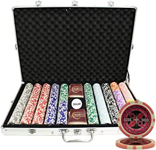 MRC 1000pcs Ultimate Laser Poker Chips Set with Aluminum Case Custom Build