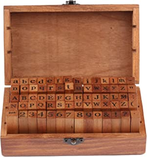 Professional Wooden Alphabet Letter Stamps Set Diy Handmade Retro Vintage Craft Box, Wooden Craft Stamps - Jewelry Stamps, Metal Stamping Dies, Wooden Letters In Home Decor, Envelopes Handmade
