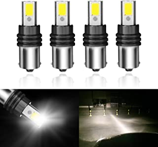 1156 7506 LED Bulbs 1141 1003 1073 BA15S Super Bright White High Power COB Bulb Canbus for RV Auto Lawn Headlamp Tractor 6000K Pack of 4