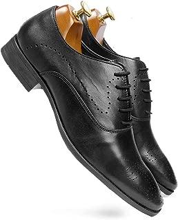 one8 Select by Virat Kohli Men's Black Leather Brogue Shoes