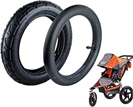 Wadoy 12.5 x 2.25 Inner Tube and 12.5'' x 1.75/2.15 Front Wheel for Bob Revolution Se/Pro/Flex Jogging and Duallie Stroller Replacement Bob Front Wheel