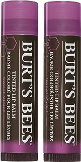 Burt's Bees 100% Natural Tinted Lip Balm, Sweet Violet, 0.15 Oz, Pack of 2