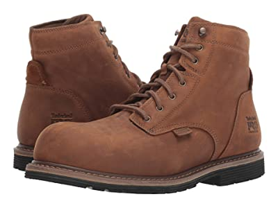 Timberland PRO Millworks 6 Composite Safety Toe Waterproof (Brown Gaucho) Men