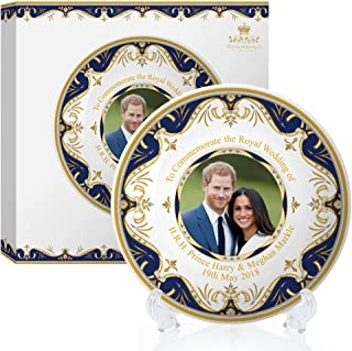 Royal Heritage - Designed in England Harry and Meghan Markle Decorative Wedding Plate 8-Inch