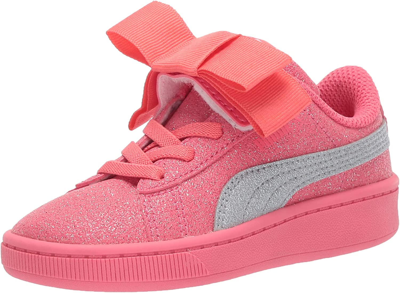 PUMA Kids' Vikky Ribbon Glitz Slip on Sneaker