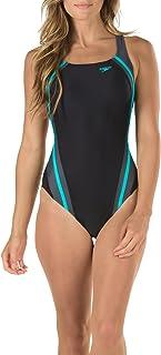 Speedo Women's Swimsuit One Piece Creora Highclo Quantum Splice High Cut Solid