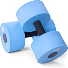 Aqua Dumbbell Two-Pack   Foam Resistance Fitness Equipment   Low Impact Exercise Weight Accessory   Water Aerobics & Swimm...