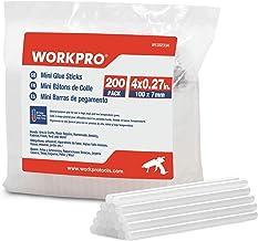 WORKPRO Lijm Sticks voor Lijmpistool 7mm x 100mm, 200 Pack Hot Lijm Gun Sticks voor DIY Hobby Craft Algemene Reparaties, H...