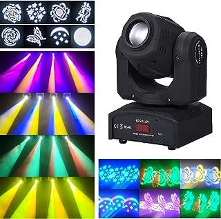 Lixada 90W LED Luz de Escenario de Cabeza Móvil Luz Discoteca DMX512 Master-Slave Sonido Activado Auto-Run 9/11 Canales Giratorio 8 Patrones 14 Colores para DJ Disco Club Fiesta Boda Navidad