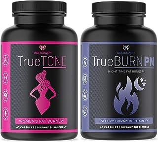 TrueTONE + TrueBURN-PM Day and Night Women's Fat Burner Bundle. Weight Loss, Appetite Suppressant, Muscle Toner, Energy Bo...