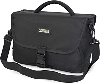 CADeN Medium Camera Bag Case Shoulder Messenger Bag Compatible for Nikon, Canon, Sony, DSLR SLR Waterproof Black