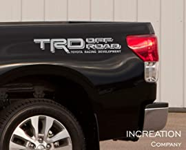 INCreation Company Tundra Tacoma Truck Body Side Bed Decal, x2 Silver Vinyl Stickers TRD Off Road 4x4, Custom auto Graphics, Racing Development Factory Style Design