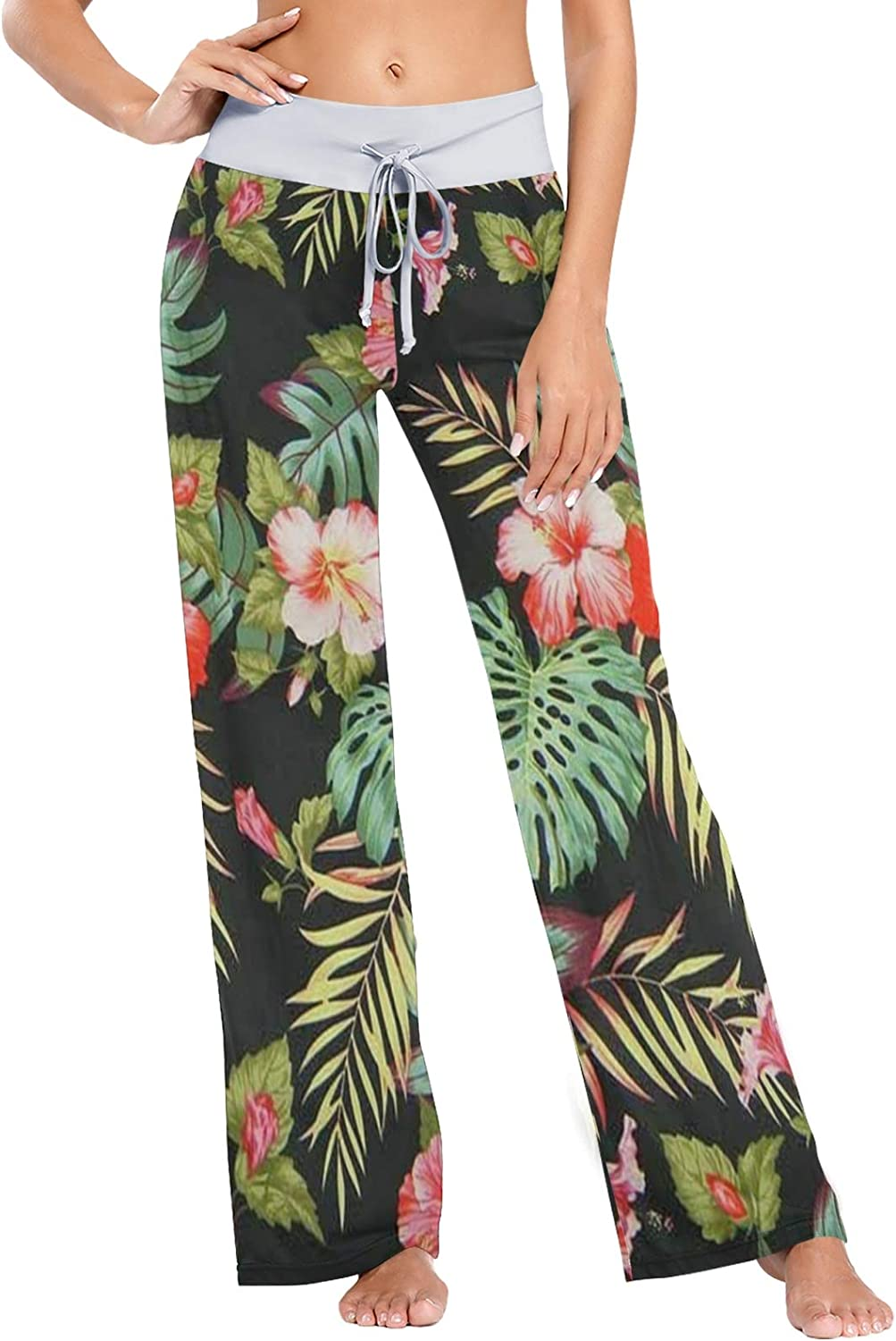 Sales for sale MSACRH Pajama Pants for Charming Flowers Women Sleepwear Limited time free shipping