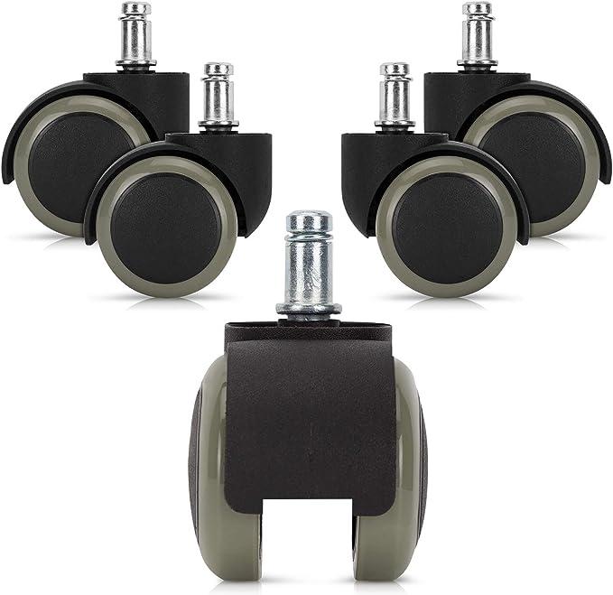 1065 opinioni per kwmobile 5X Rotelle Sedia Ufficio 10mm/50mm- Ruote AntiGraffio Pavimenti
