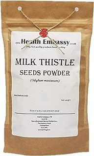 Semillas de Cardo Mariano Polvo (Silybum marianum) / Milk Thistle Seeds Powder - Health Embassy - 100% Natural (200g)