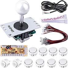 Quimat Arcade Joystick, Cero Retraso Joystick y Botones con USB Codificador Kit de Bricolaje PC para Mame Jamma y Juego de Lucha (Blanco) QR02