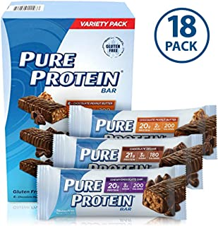 Bars, High Protein, Nutritious Snacks to Support Energy, Low Sugar, Gluten Free, Variety Pack, 1.76oz, 18 Pack