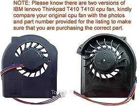 Todiys CPU Cooling Fan for IBM Lenovo Thinkpad T410 T410I Series 3-Pin 45M2721 45M2722 45N5685 45N5908 MCF-230PAM05