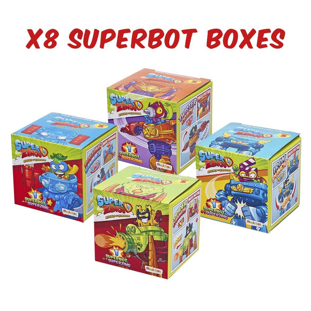 Superzings - Serie 3 - Caja con colección completa de 8 robots y 8 ...