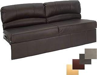 "RecPro Charles RV Jackknife Sofa | Love Seat | Sleeper Sofa | Length Options 62"", 68"", 72"" (72 Inch, Chestnut)"