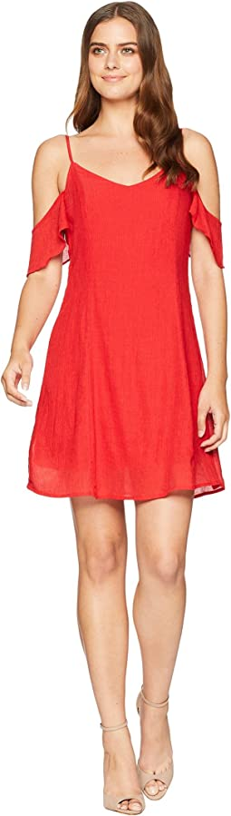 Stevie Cold Shoulder Ruffle Dress