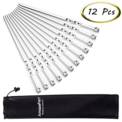 AmazeFan Barbecue Skewers, Stainless Steel Kabo...
