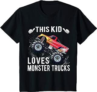 Kids This Kid Loves Monster Trucks Boys and Girls Gift T-Shirt