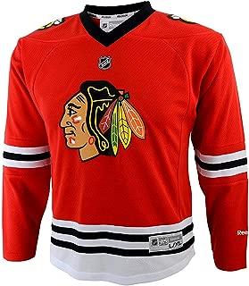 NHL Youth Boys Chicago Blackhawks Red Replica Blank Jersey
