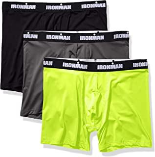 IRONMAN Mens Multipack Performance Boxer Brief Boxer Briefs