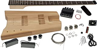 Solo SB Headless Style DIY Bass Guitar Kit, Ash Body, Rosewood FB, SBBK-1
